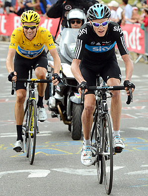 Bradley Wiggins (left) initially said he wanted to help teammate Christopher Froome win the 2013 Tour de France.