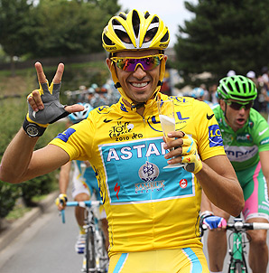 Alberto Contador was stripped of his 2010 Tour de France title for doping.