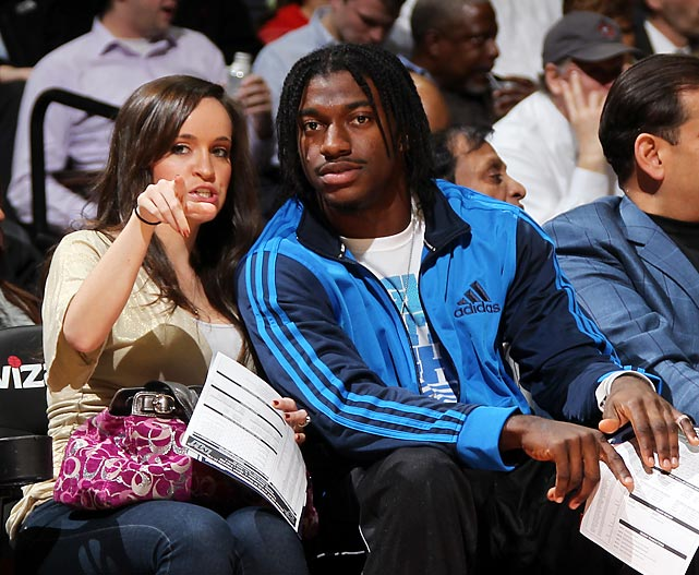 The soon-to-be Mrs. RGIII watch the Wizards wilt against the Heat at the Verizon Center in Washington, DC.