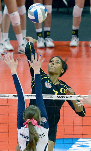 Ariana Williams and the Ducks sweep the final three sets to reach the title game.