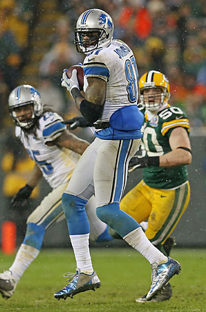 Though he has only scored five touchdowns this season, Calvin Johnson leads the NFL in receiving with 1,546 yards in 13 games.