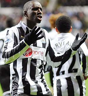 Demba Ba (10 goals) is the only Newcastle player with more than three goals this season.