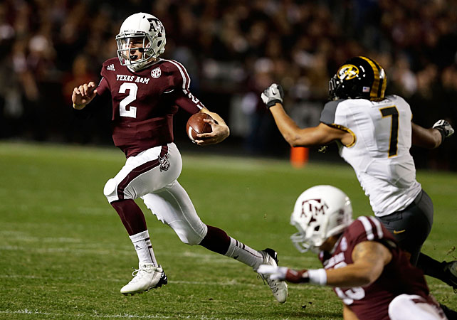 Johnny Football is the man of the moment. This year's Heisman winner broke the SEC record by racking up 4,600 yards of total offense, and he's dazzled fans all season -- with his arm, legs and Halloween costume.