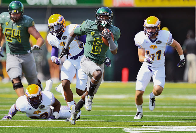 The Ducks' speedy all-purpose threat didn't have the Heisman-worthy season many had anticipated, but he's still capable of doing more with one touch than almost any other player in the nation. Case in point: Thomas only rushed twice in last year's Rose Bowl win over Wisconsin, but for a total of 155 yards and two touchdowns.