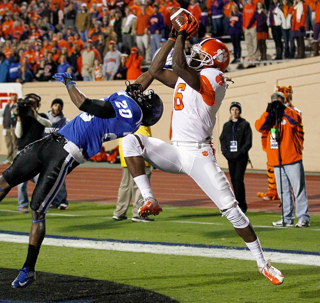 Overshadowed by Sammy Watkins at the start of the year, Hopkins came into his own as Clemson's most explosive wideout by December. He made 69 receptions this season, 18 of which went for 25 yards or longer.