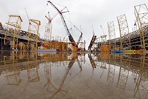 The Sochi Olympic stadium will also host World Cup matches.