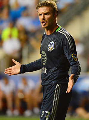 David Beckham won the MLS Cup in his final game for the Los Angeles Galaxy.