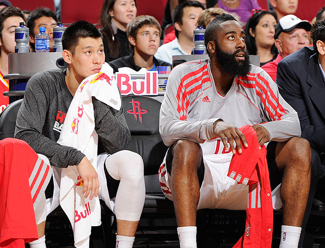 On Oct. 28, 2012, Houston traded for James Harden, pairing him with Lin in the backcourt. The two combined for 49 points and 20 assists in their debut for the Rockets.