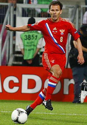 Konstantin Zyryanov played in Euro 2008 and Euro 2012 for Russia.