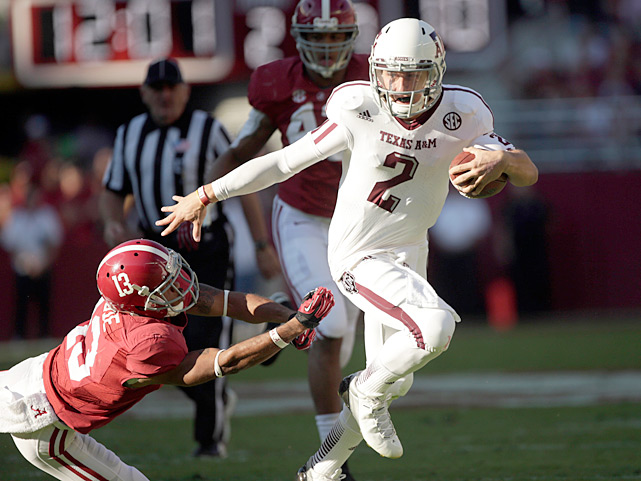 In early November, few thought that undefeated SEC powerhouse Alabama could be stopped. But then the Crimson Tide met Johnny Manziel. The Aggies freshman quarterback threw for 253 yards and two touchdowns, en route to a 29-24 upset win.