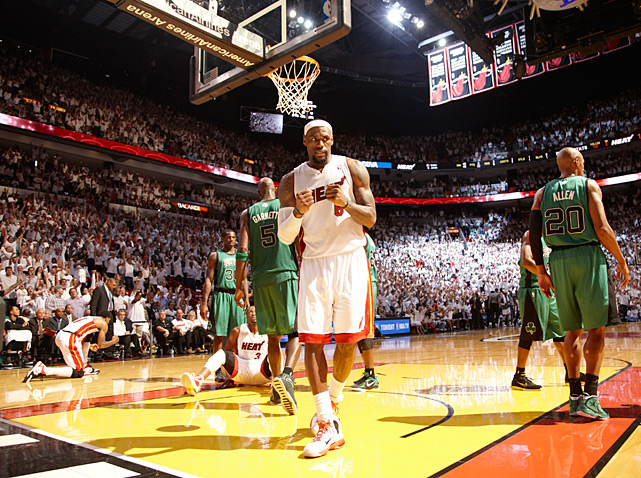 Ahead by 15 points, it looked like the Celtics were about to head to Boston with the Eastern Conference Finals tied 1-1. But despite Rajon Rondo's monster 44-8-10 totals, LeBron James and the Heat emerged with the 115-111 victory, keeping Miami in control of the series.