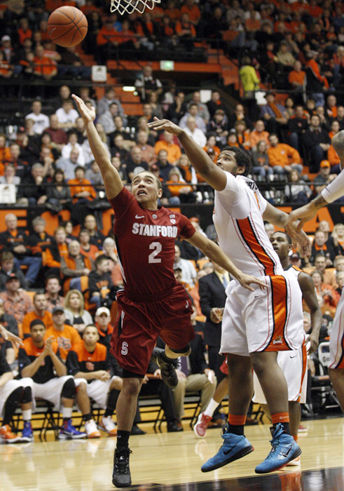 Stanford and Oregon State staged an epic battle in the Beavers' Gill Coliseum on Jan. 7. The Cardinal pulled ahead in the fourth overtime to win 103-101.