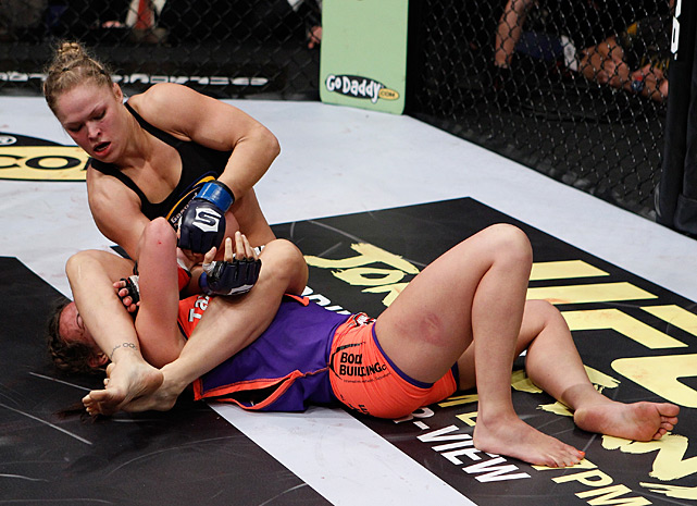 Women's MMA star Ronda Rousey added to her legend with a vicious armbar against Miesha Tate in the first round of their March bout. The victory gave Rousey the Strikeforce 135-pound title.