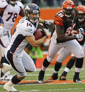 After catching 51 passes from 2009-2011, Brandon Stokley has 37 this season alone.