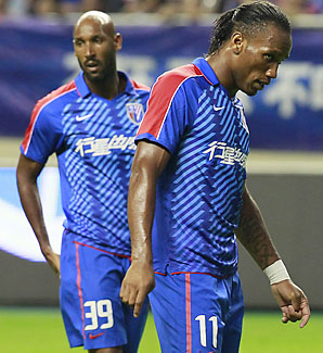 Nicolas Anelka (left) and Didier Drogba may be headed elsewhere come the January transfer window.