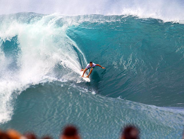 Joel Parkinson rides a wave during the Billabong Pipe Masters in Hawaii. Australia's Parkinson is ranked no. 1 in the world in the ASP.