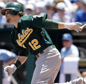 Collin Cowgill played 38 games for the A's in 2012.