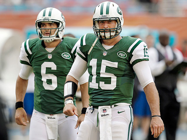 Tim Tebow and Mark Sanchez are voted the two most overrated players in the NFL in an SI poll of 180 players.