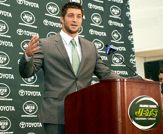 "Tim Tebow claims that he is ""excited"" 44 times in a 32-minute press conference."