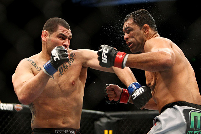 With a shot at Brock Lesnar's UFC heavyweight title at stake, Velasquez came through in the most dramatic way possible: starching Antonio Rodrigo Nogueira in the first round at UFC 110 on Feb. 20, 2010. The highlight-reel finish earned him Knockout of the Night honors.