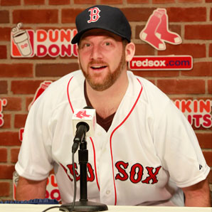 Ryan Dempster signed a two-year contract with Boston.