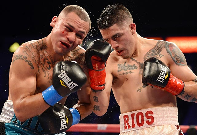 Most pundits argued there was no way that the fight between Brandon Rios and Mike Alvarado would live up to the hype. By the end of the seven round battle, most agreed that the fight somehow topped the hype. Rios and Alvarado mostly traded in skill and technique so they could all-out brawl, but Rios showcased both his ability to work inside as well as land some thunderous punches. Rios eventually won in the seventh round after visibly injuring Alvarado, and the fight was almost instantly declared the fight of the year.