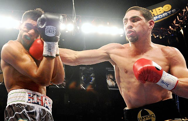 Amir Khan is now angling, even craving for a rematch after Danny Garcia shocked the British star in the fourth round last July. The undefeated Garcia beat the old (and somewhat haggard) Erik Morales in his last fight, but was not expected to compete with the powerful Khan. The fourth round hadn't even finished before Garcia knocked Khan to the canvas. Now, Khan wants a rematch and is insisting he knows what he did wrong. He also insists that this time, it will be Garcia to hit the deck.