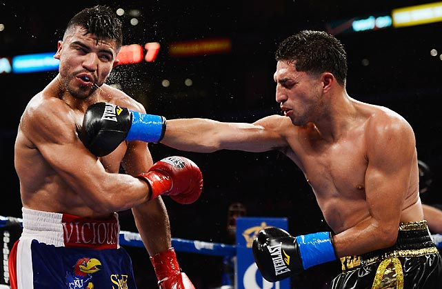Lopez pulled of a rare feat in boxing; he was a replacement opponent that stepped in and knocked out the heavy favorite. Victor Ortiz was originally scheduled to fight Andre Berto in June, but Berto failed a drug test so Ortiz needed an opponent. In stepped Lopez, who had lost his last fight against Jessie Vargas in November 2011. Lopez would catch Ortiz with a vicious hook in the ninth round that broke the favorite's jaw, and the fight was eventually ruled a technical knockout in the tenth round.