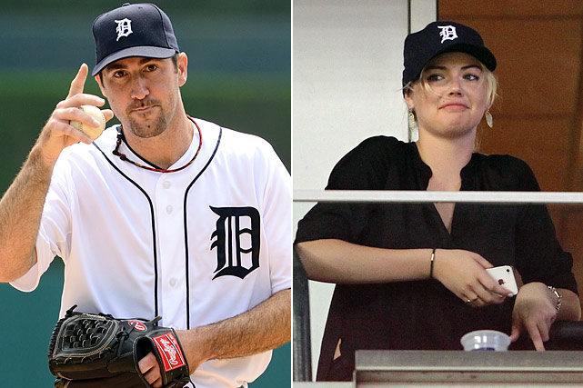 Rumors swirled that the Tigers pitcher and SI swimsuit model were dating, and in mid-October the hurler's grandfather confirmed the relationship.