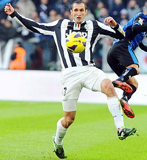 Giorgio Chiellini lead Serie A by seven points over Inter Milan.