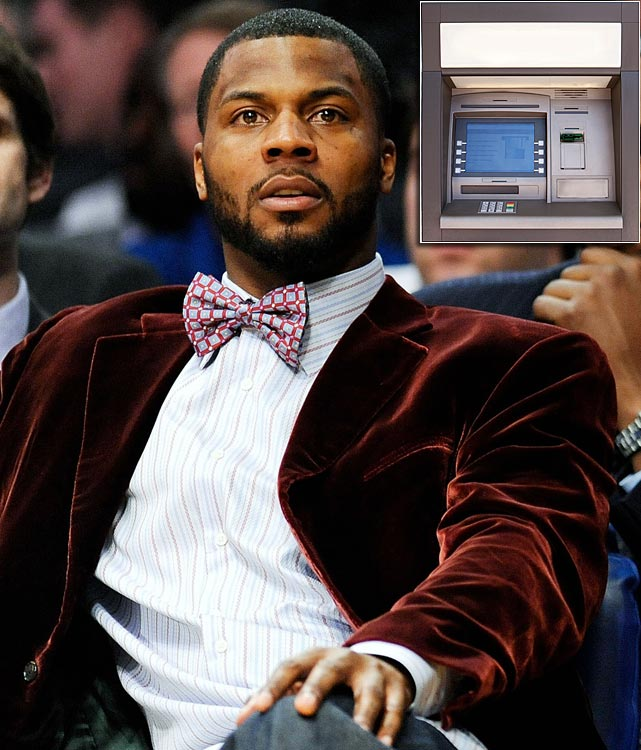 NBA forward DeShawn Stevenson revealed in an Instagram photo that he had an ATM machine (transaction fee: $4.50) installed in his kitchen. <italics>June 11 issue</italics>