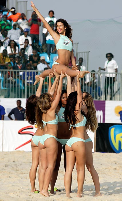 Fun Fact to Know & Tell: Even beach soccer has cheerleaders, and they're quite an uplifting experience.
