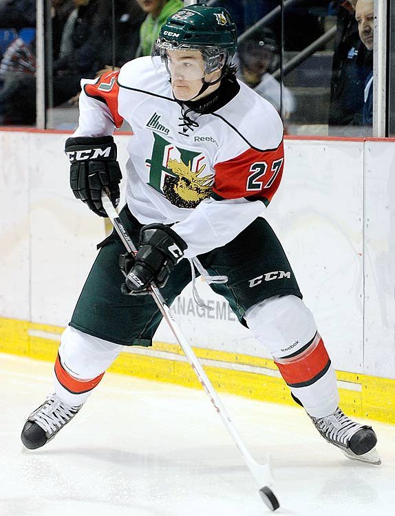 A year ago, Drouin was lingering in midget hockey, unsure if he wasphysically ready to jump to the QMJHL. Today, he is the most dominant offensive force in the CHL, using his Joe Sakic-like vision and soft hands to average two points per game for Halifax. His age -- just 17 -- made him a dark horse coming into camp, but his strong showing earned him a spot on Canada's second line beside Ryan Strome and Brett Ritchie. He could be this year's Jordan Eberle.