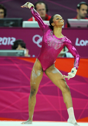 Gabby Douglas won all-around gold at the London Olympics.