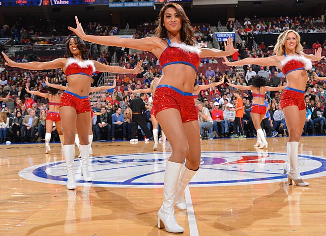 The Philadelphia 76ers dancers performed during the game against the Atlanta Hawks at the Wells Fargo Center in Philadelphia.