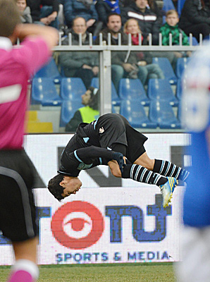 Carvalho Hernanes scored in the 31st minute for Lazio.