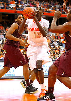 Baye Moussa Keita grew up playing soccer, but picked up basketball when he moved to the U.S. from Senegal.