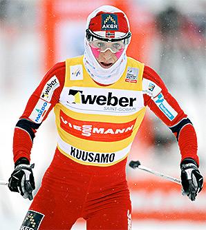 Norwegian skier Marit Bjoergen was hospitalized with an irregular heartbeat.