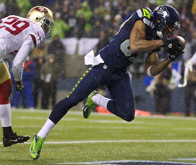 Wide receiver Doug Baldwin needs to have more games like he had against the 49ers in Week 16 -- four receptions for 53 yards and two touchdowns.