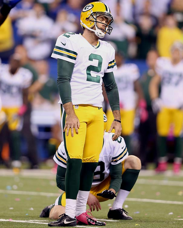 Kicker Mason Crosby needs to recapture his mojo. The offense can't score touchdowns on every possession.