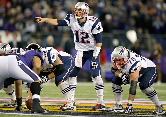 "The offensive line must control the ""A"" gaps. Tom Brady is vulnerable to inside pressure."