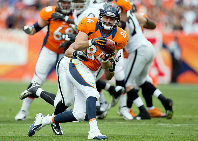 Keep defenses off-balance by using Jacob Tamme as a tight end and a slot receiver.