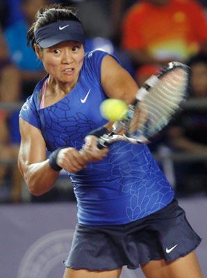 Li Na broke a 2-1 lead in the second set to win.