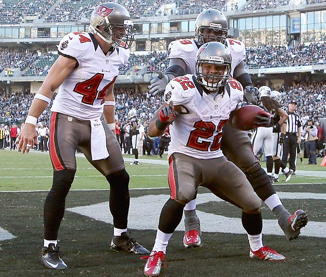 Doug Martin became the second player in league history to run for at least 250 yards and score four touchdowns in a game. His record-day against Oakland also was the first time a player had touchdown runs of 70+, 65+, and 45+ yards in a single game.