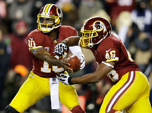 Use quarterback RGIII and running back Alfred Morris equally to keep the defense off-balance. Both players are big playmakers.