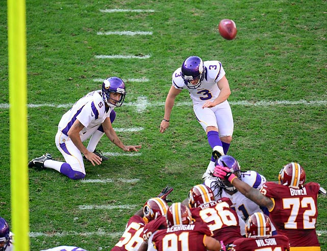 Move the ball inside the opponent's 40. That's within field goal range for rookie kicker Blair Walsh.