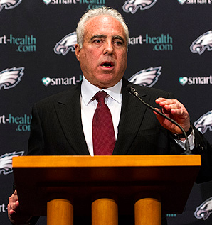 Philadelphia chairman and CEO Jeffrey Lurie seeks a coach who can win the Eagles' first championship since 1960.