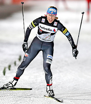Kikkan Randall finished more than 50 meters ahead of the second place finisher.