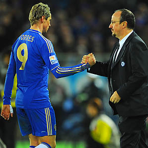 Fernando Torres, Rafa Benitez and Chelsea are in fourth place in the Premier League.