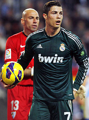 Cristiano Ronaldo and Real Madrid are in third place in La Liga.